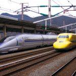 2月5日のドクターイエローと500系「カンセンジャー」ラッピング新幹線